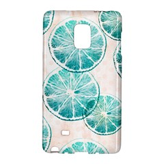 Turquoise Citrus And Dots Galaxy Note Edge by DanaeStudio