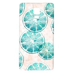 Turquoise Citrus And Dots Galaxy Note 4 Back Case