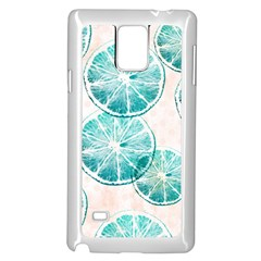 Turquoise Citrus And Dots Samsung Galaxy Note 4 Case (white)