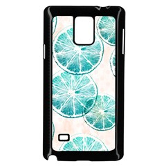 Turquoise Citrus And Dots Samsung Galaxy Note 4 Case (black)