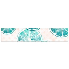Turquoise Citrus And Dots Flano Scarf (small) by DanaeStudio
