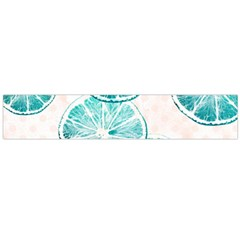 Turquoise Citrus And Dots Flano Scarf (large)