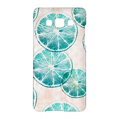 Turquoise Citrus And Dots Samsung Galaxy A5 Hardshell Case