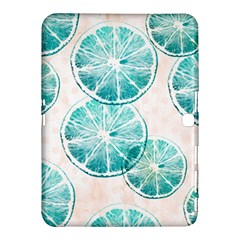 Turquoise Citrus And Dots Samsung Galaxy Tab 4 (10 1 ) Hardshell Case