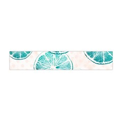 Turquoise Citrus And Dots Flano Scarf (mini)