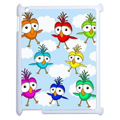 Cute Colorful Birds  Apple Ipad 2 Case (white) by Valentinaart