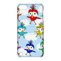 Cute Colorful Birds  Apple Ipod Touch 5 Hardshell Case With Stand by Valentinaart