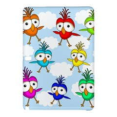 Cute Colorful Birds  Samsung Galaxy Tab Pro 12 2 Hardshell Case by Valentinaart