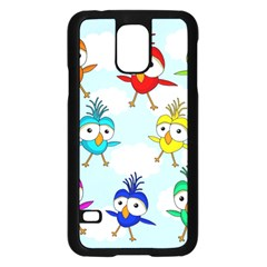 Cute Colorful Birds  Samsung Galaxy S5 Case (black) by Valentinaart