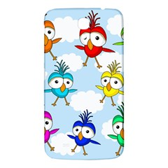 Cute Colorful Birds  Samsung Galaxy Mega I9200 Hardshell Back Case by Valentinaart