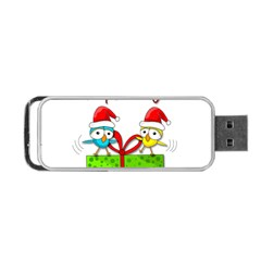 Cute Xmas Birds Portable Usb Flash (two Sides) by Valentinaart