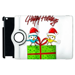 Cute Xmas Birds Apple Ipad 3/4 Flip 360 Case by Valentinaart