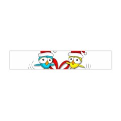 Cute Xmas Birds Flano Scarf (mini) by Valentinaart