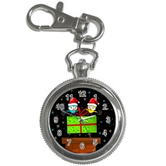 Cute Christmas Birds Key Chain Watches by Valentinaart