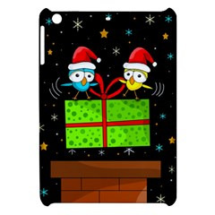 Cute Christmas birds Apple iPad Mini Hardshell Case by Valentinaart