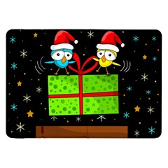 Cute Christmas Birds Samsung Galaxy Tab 8 9  P7300 Flip Case by Valentinaart
