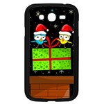 Cute Christmas birds Samsung Galaxy Grand DUOS I9082 Case (Black) Front