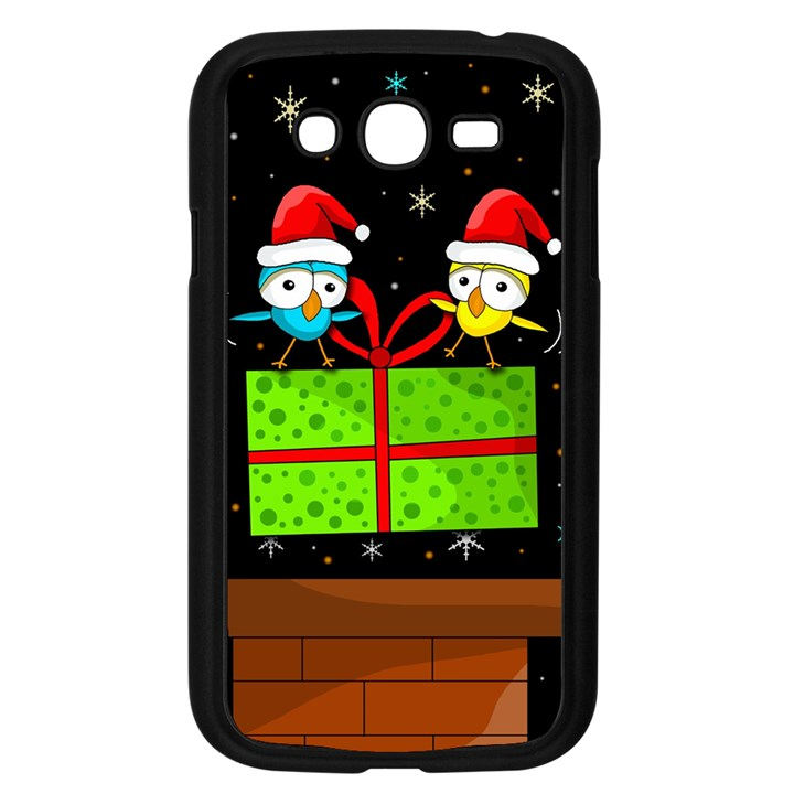 Cute Christmas birds Samsung Galaxy Grand DUOS I9082 Case (Black)