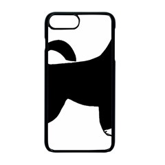 Portugese Water Dog Color Silhouette Apple iPhone 7 Plus Seamless Case (Black)