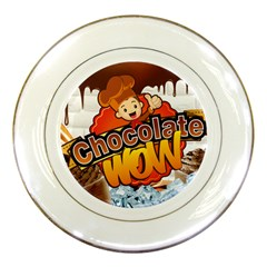 Chocolate Wow Porcelain Plates by Onesevenart