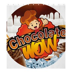 Chocolate Wow Shower Curtain 66  X 72  (large)  by Onesevenart