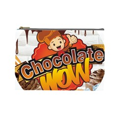 Chocolate Wow Cosmetic Bag (large)  by Onesevenart