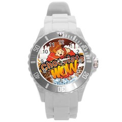 Chocolate Wow Round Plastic Sport Watch (l) by Onesevenart