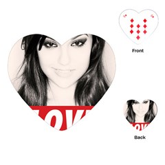 Sasha Grey Love Playing Cards (heart)  by Onesevenart