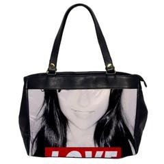 Sasha Grey Love Office Handbags by Onesevenart