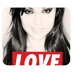 Sasha Grey Love Double Sided Flano Blanket (small)  by Onesevenart