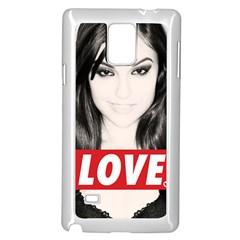 Sasha Grey Love Samsung Galaxy Note 4 Case (white) by Onesevenart
