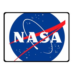 Nasa Logo Fleece Blanket (small) by Onesevenart