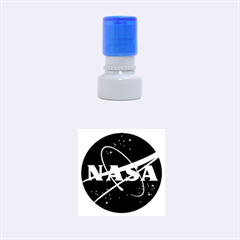Nasa Logo Rubber Round Stamps (small) by Onesevenart