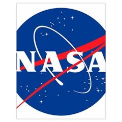 Nasa Logo Drawstring Bag (large) by Onesevenart