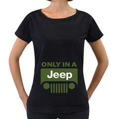 Only In A Jeep Logo Women s Loose-Fit T-Shirt (Black) by Onesevenart