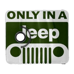 Only In A Jeep Logo Galaxy S3 (flip/folio) by Onesevenart