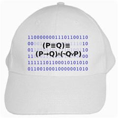 Logic Eqn White Cap by Onesevenart