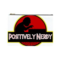 Positively Nerdy Cosmetic Bag (large)  by Onesevenart