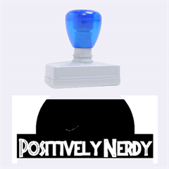 Positively Nerdy Rubber Stamps (Large) by Onesevenart