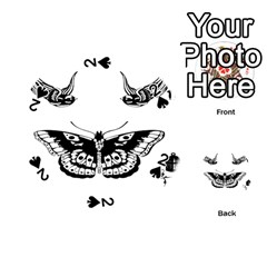 Harry Styles Tattoos Playing Cards 54 (round)  by Onesevenart