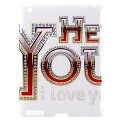 Hey You I Love You Apple Ipad 3/4 Hardshell Case (compatible With Smart Cover) by Onesevenart