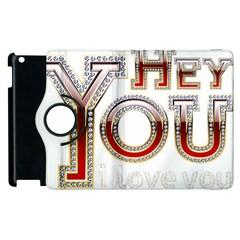 Hey You I Love You Apple Ipad 3/4 Flip 360 Case by Onesevenart