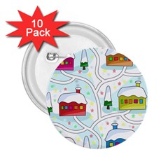 Winter Magical Landscape 2 25  Buttons (10 Pack)  by Valentinaart