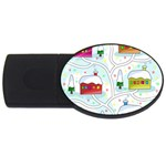 Winter magical landscape USB Flash Drive Oval (2 GB)  Front