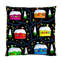 Winter Magical Night Standard Cushion Case (two Sides) by Valentinaart