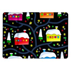 Winter Magical Night Samsung Galaxy Tab 10 1  P7500 Flip Case by Valentinaart