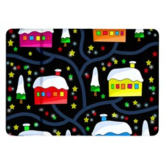 Winter Magical Night Samsung Galaxy Tab 8 9  P7300 Flip Case by Valentinaart