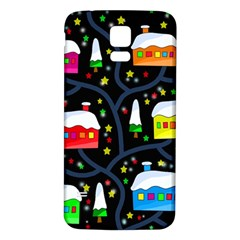 Winter Magical Night Samsung Galaxy S5 Back Case (white) by Valentinaart