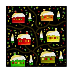 Winter  Night  Tile Coasters by Valentinaart