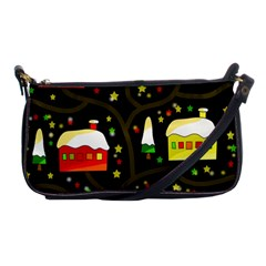 Winter  Night  Shoulder Clutch Bags by Valentinaart